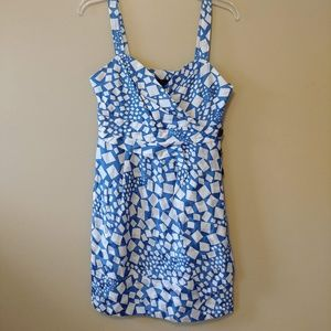 Marc by Marc Jacobs Blue White Patterned Dress Sz6